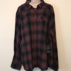 Other - Maroon and black Cody James button up